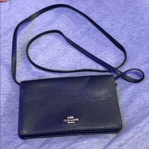 Coach black leather Crossbody/handbag